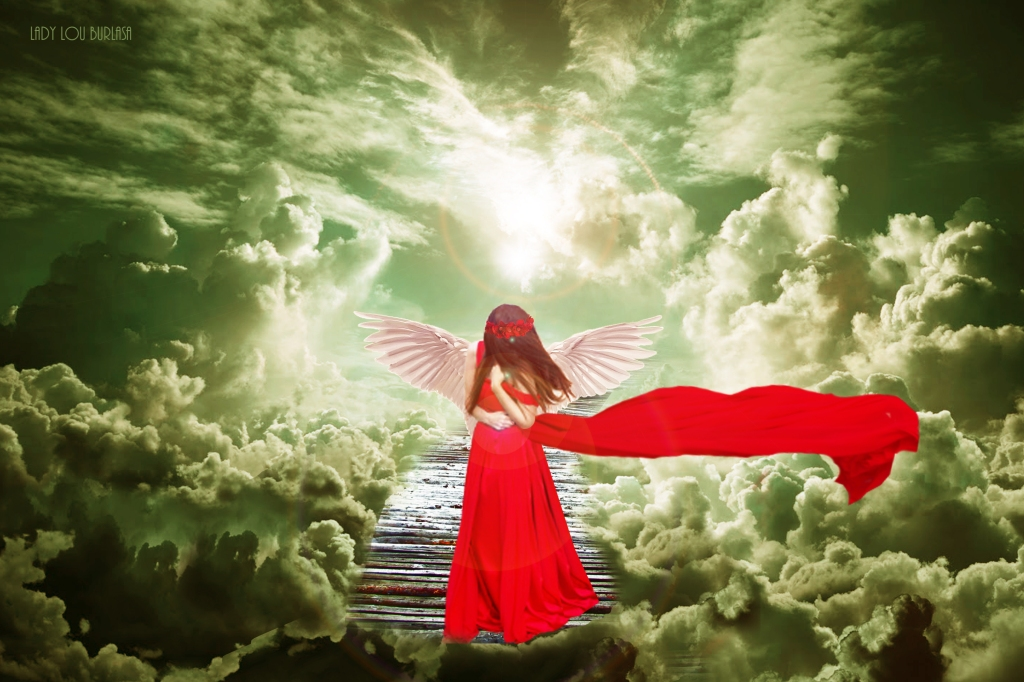 Red Angel Heaven Sent by Lady Lou